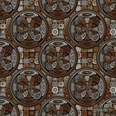 Tessellation Digital Art - Dark Chocolate Pattern by Gaspar Avila