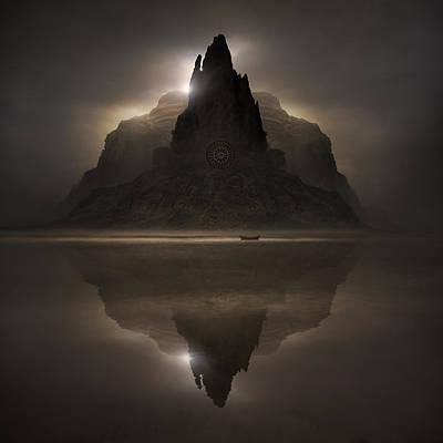 Lakes Digital Art - Dark Companion by Michal Karcz