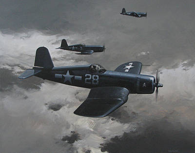 U.s. Navy Painting - Dark Edge by Curtis Chapline