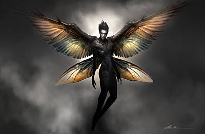 Wicked Digital Art - Dark Fairy by Alex Ruiz