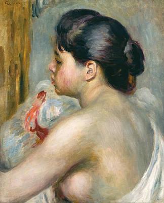 Pierre-auguste Renoir Painting - Dark-haired Woman by Pierre Auguste Renoir