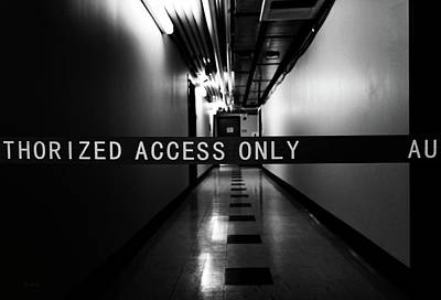 Photograph - Dark Hallway by Bob Orsillo
