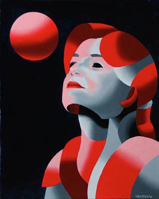 Mask Painting - Dark Matter 10 by Mark Webster