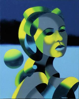 Sphere Painting - Dark Matter 5 by Mark Webster