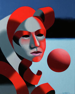 Sphere Painting - Dark Matter 6 by Mark Webster