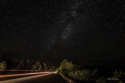 Photograph - Dark Sky Beam by Bill Cantey