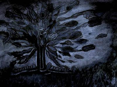 Dark Tree Print by Stephanie Zelaya