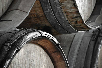 Sonoma Wine Country Photograph - Dark Wine Barrels To Store Vintage Wine by Brandon Bourdages