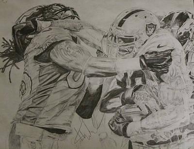 Deadlock Drawing - Darren Mcfadden by Justin Wade