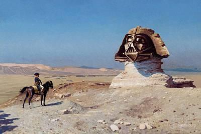 Napoleon Bonaparte Digital Art - Darth Sphinx 2 by Andrea Gatti