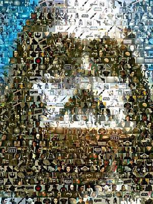 Darth Vader Mosaic Print by Paul Van Scott