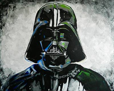 Jabba Painting - Darth Vader Painting by Scott Strachan