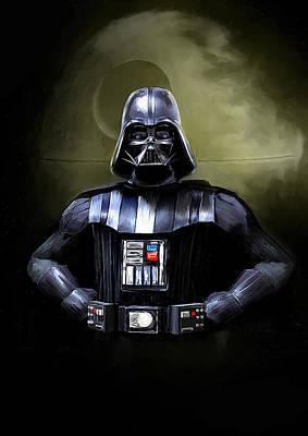 Darth Vader Star Wars  Print by Michael Greenaway