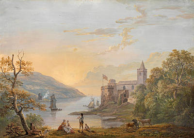 Paul Sandby Drawing - Dartmouth Castle by Paul Sandby