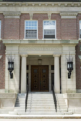 Brick Schools Photograph - Dartmouth College Administration Building by Edward Fielding