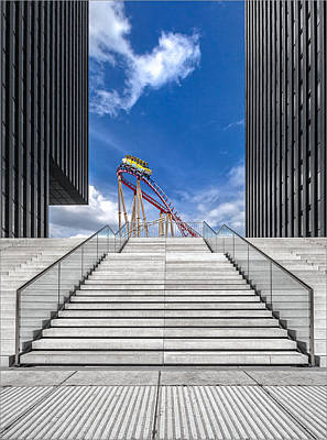Rollercoaster Photograph - Da?sseldorf / Medienhafen by Herbert A. Franke