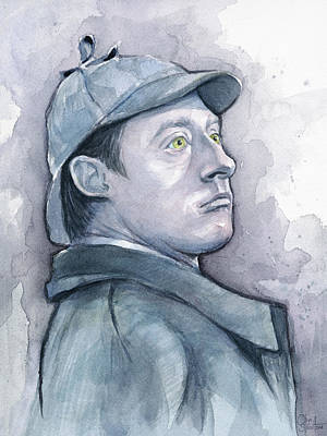 Data Painting - Data As Sherlock Holmes by Olga Shvartsur