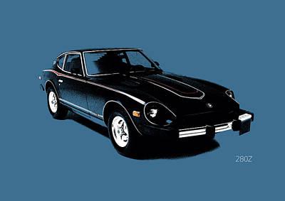 Datsun 280z Print by Mark Rogan