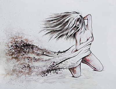 Nude Children Drawing - Daughter Of Eve by Rachel Christine Nowicki