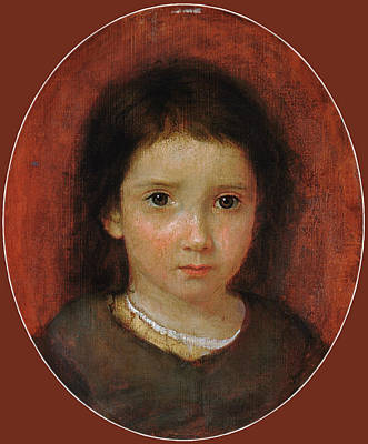 Painting - Daughter Of William Page. Possibly Anne Page by William Page