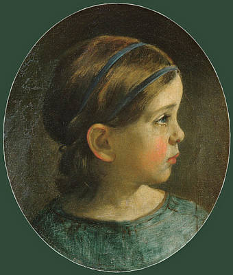 Painting - Daughter Of William Page. Probably Mary Page by William Page