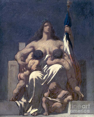Daumier: Republic, 1848 Print by Granger