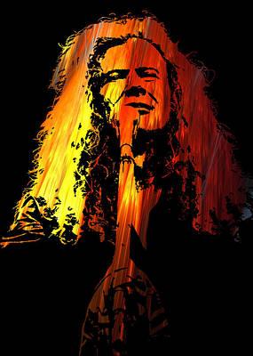Megadeth Digital Art - Dave Mustaine by Michael Bergman