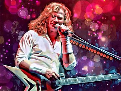 Metallica Digital Art - Dave Mustaine Painting by Scott Wallace