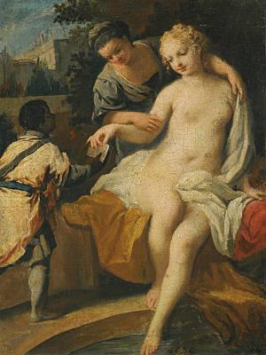 Jacopo Amigoni Painting - David And Bathseba by Jacopo Amigoni