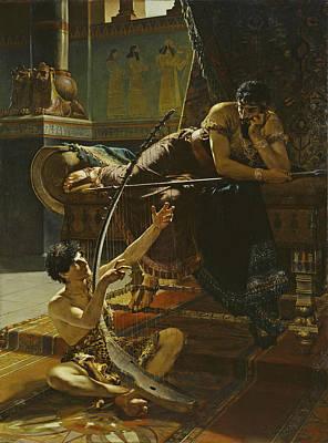 Painting - David And Saul by Julius Kronberg
