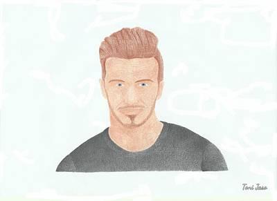 David Beckham Print by Toni Jaso