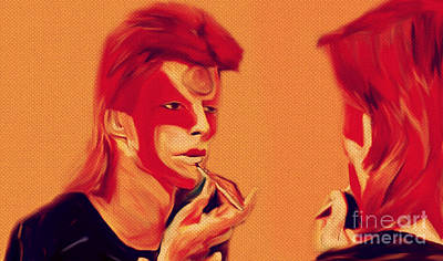 David Bowie 1973 May First Make Up To Be Ziggy Stardust Original by Felix Von Altersheim