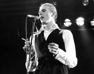 Singer Photograph - David Bowie 1976 #3 by Chris Walter