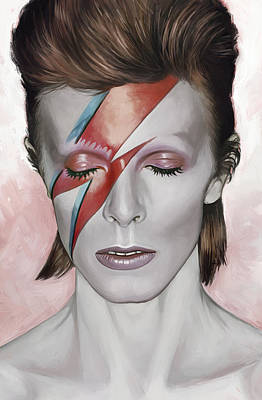 Songwriter Mixed Media - David Bowie Artwork 1 by Sheraz A