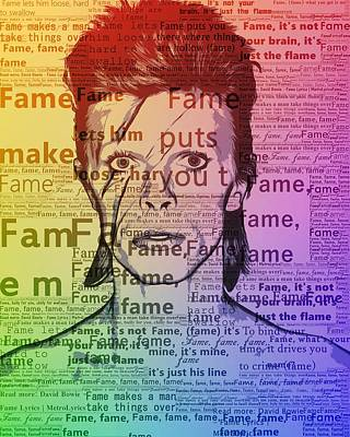 Icon Mixed Media - David Bowie Fame by Dan Sproul