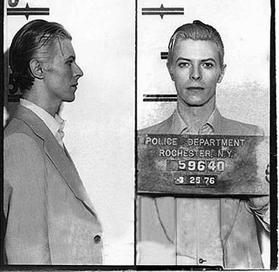 David Bowie Painting - David Bowie Mug Shot Horizontal by Tony Rubino