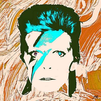Portraits Digital Art - David Bowie Panel Four by Linda Mears