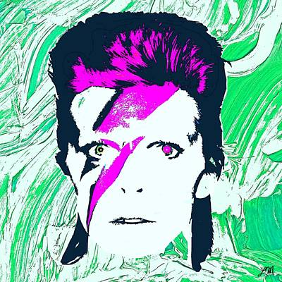 Singer Digital Art - David Bowie Panel Three by Linda Mears