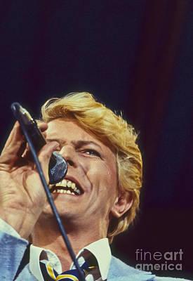 David Bowie Smiling Eye Print by Philippe Taka