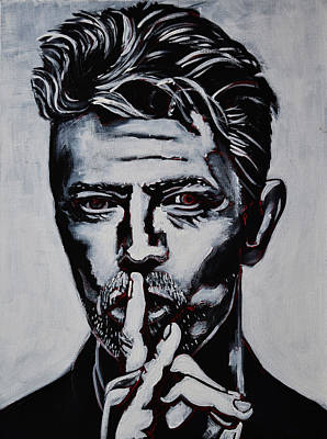 David Bowie Painting - David Bowie by Stephen Humphries