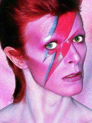 David Bowie Ziggy Stardust Red Original by Tony Rubino