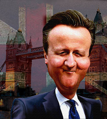 David Cameron Print by Hans Neuhart