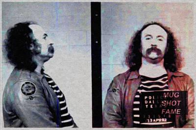 Jail Painting - David Crosby Mug Shot Horizontal Painting by Tony Rubino