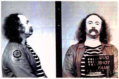 Jail Painting - David Crosby Mug Shot Horizontal Photo by Tony Rubino