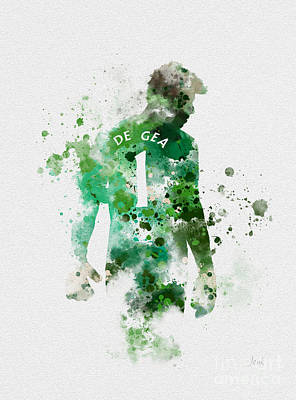 Goalkeeper Mixed Media - David De Gea by Rebecca Jenkins