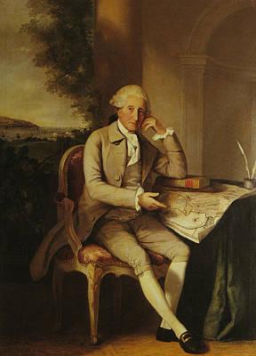 Desk Painting - David De Pury  by Thomas Hickey