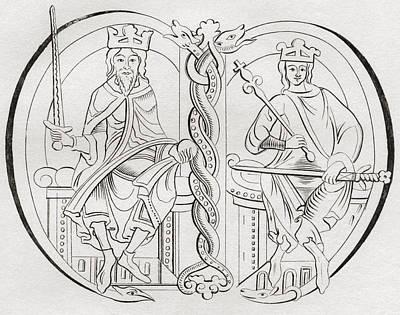Virgo Drawing - David I, Left, 1084 by Vintage Design Pics