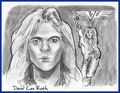 Van Halen Drawing - David Lee Roth by Chris  DelVecchio