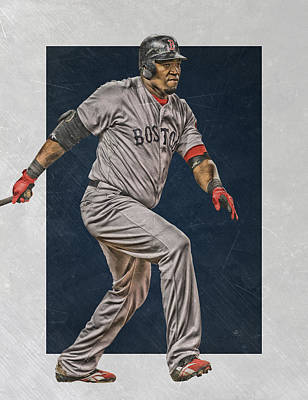 David Ortiz Boston Red Sox Art 2 Print by Joe Hamilton