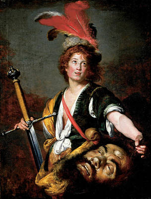 Painting - David With The Head Of Goliath by Bernardo Strozzi